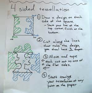 how to make a tessellation template with an index card tessellation history puzzle tessellation template