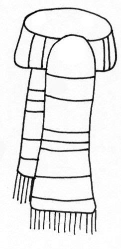 coloring pages of winter scarves scarf coloring page template snowman winter kids