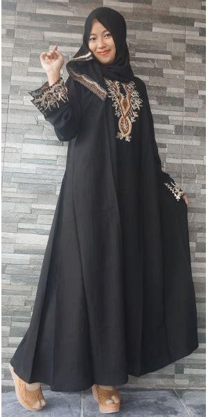 Gamis Abaya Bordir Flower Gamis Cantik Abaya Saudi Abaya Cantik gamis arab dubai emas model v gsa004