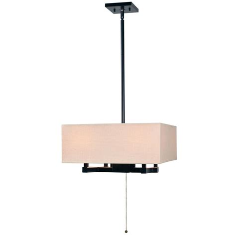 4 Light Pendant Fixture Kenroy Home Corbis 4 Light Bronze Chandelier With Brown Shade 93594orb The Home Depot