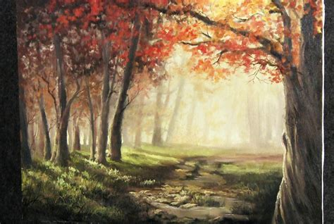 acrylic painting kevin autumn sunlight paint with kevin hill doovi