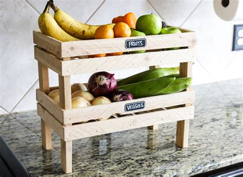 build  diy rustic farmhouse stackable fruit