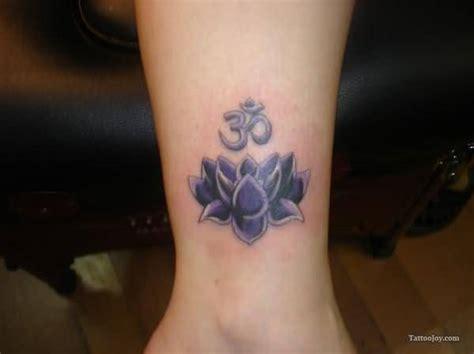 tattoo lotus leg cute lotus tattoo with ohm symbol on leg tattooshunter com