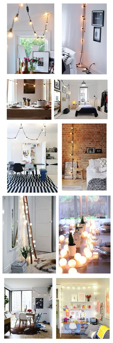 decorate with string lights best 25 indoor string lights ideas on indoor