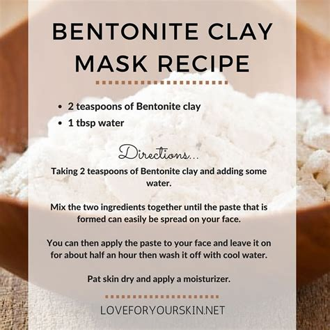 Bentonite Clay Detox Drink Benefits by Bentonite Clay Mask Recipe Naturalskincare Acne Prone