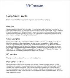 request for rfp template sle rfp template 8 free documents in pdf word