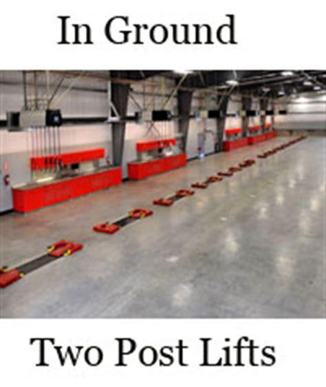 In Ground Garage Lift by Two 2 Four 4 Post Garage Lifts Parking Scissor Phantom
