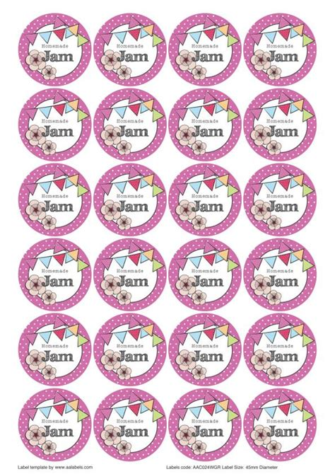 jam labels template the great summer jam jar labels designs aa