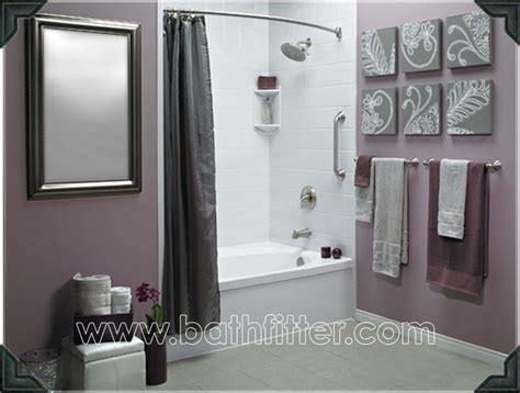 purple gray bathroom love the grey and purple together could diy some artwork
