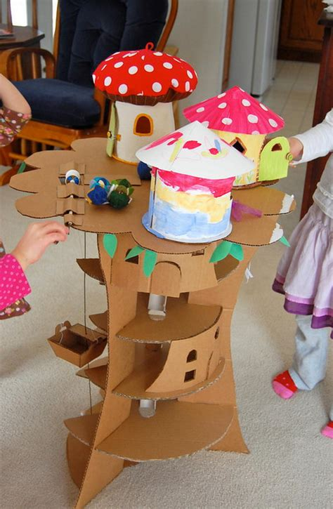 cool homemade cardboard craft ideas hative