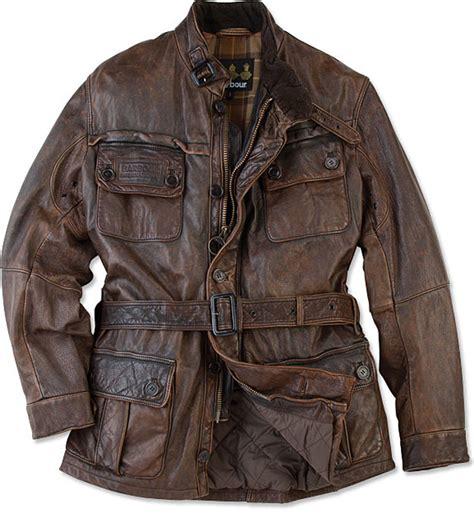 Motorrad Lederjacke Old Style by Barbour Vintage International Leather Jacket Uncrate