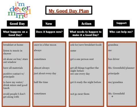 behavior support plan template it count using the day plan to support