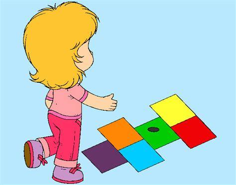 dibujos de niños jugando rayuela dibujo de ni 241 a jugando rayuela pintado por corinah en