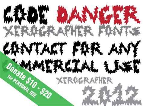 xerographer dafont code danger font dafont com
