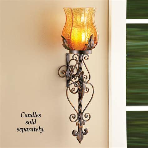 bronze elegant scrollwork decorative hurricane amber glass