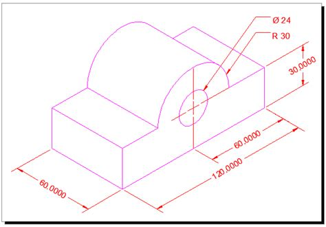 autocad tutorial orthographic orthographic projection exercise