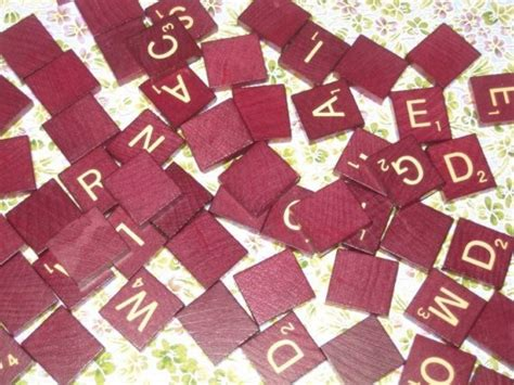 Mahogany Scrabble Tiles 100 Pack Free Gift With Order