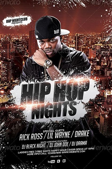 free hip hop flyer templates best hip hop flyer templates no 1 psd flyer
