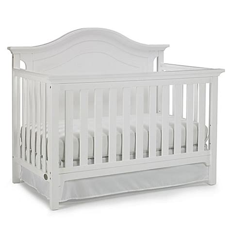 Ti Amo Catania 4 In 1 Convertible Crib In Snow White Bed Convertible White Cribs