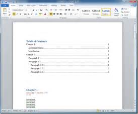 table of contents template word 2010 table of contents template word quotes