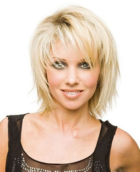contemporary shoulderlength hairstyles short medium length layered hairstyles bangs svapop