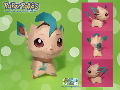 Leafeon Papercraft - chibi leafeon papercraft by lyrin 83 on deviantart