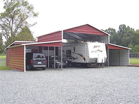 Motorhome Sheds by Metal Rv Carports And Motorhome Covers Probuilt Steel