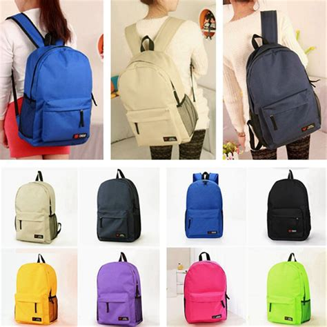 Plain Canvas Backpack With Pouch canvas plain backpacks back packs travel school