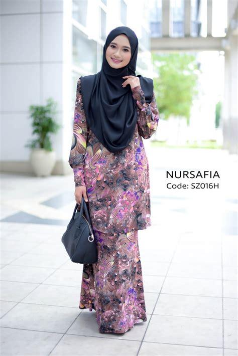 Zulfa Dress baju kurung moden lycra zulfa sz016h saeeda collections