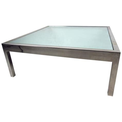 unique glass coffee tables unique midcentury mirrored glass and chrome coffee table