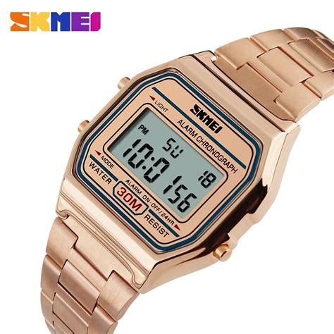 Jam Tangan Skmei Digital 1123 Wr30m skmei jam tangan digital pria dg1123 gold jakartanotebook