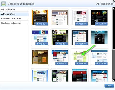 layout webnode webnode change the website template