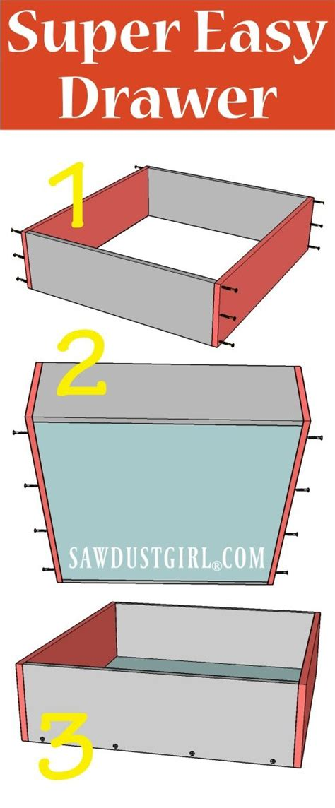How To Build A Simple Drawer by How To Build A Cabinet Drawer The Easiest Way Possible