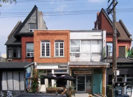 Split Houses by Broken Pediment Kensington Market Style First Years Of