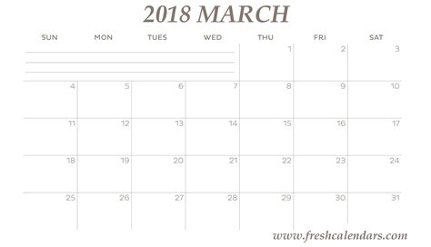 printable calendar 2018 to color march 2018 printable calendar templates