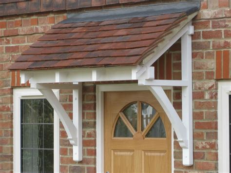small awning over back door period timber canopy cottage style front door porch door