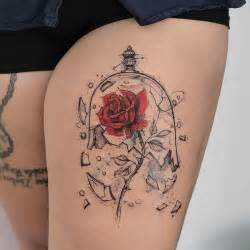beauty and the beast rose tattoo tattoos pinterest