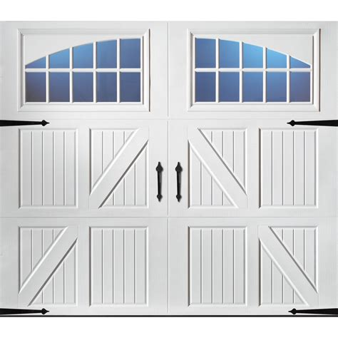 Shop Pella Carriage House 96 In X 84 In White Single Garage Doors At Lowes