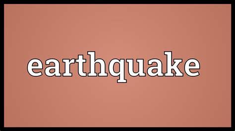 earthquake synonym earthquake meaning youtube