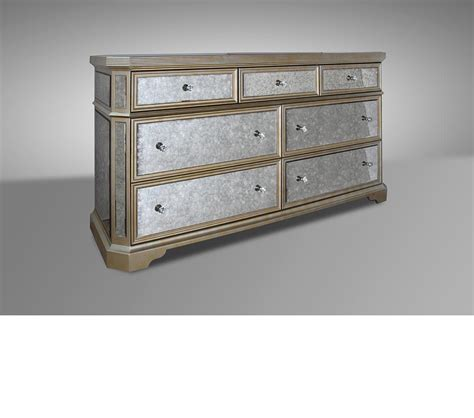 Mirrored Bedroom Dresser Dreamfurniture Transitional Mirror Dresser