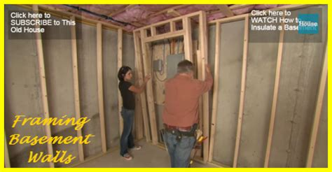 framing your basement walls is an easy diy project gotta