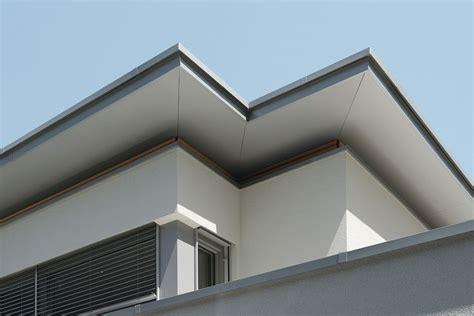 dachgesims holz passivhaus flachdach dach 252 berstand passivhaus