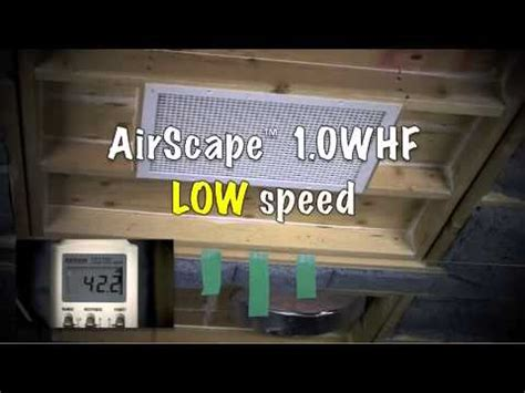 airscape whole house fan price airscape 1 0 whole house fan acoustics demo youtube