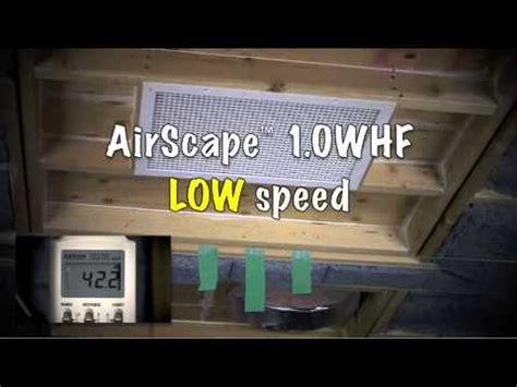 airscape whole house fan airscape 1 0 whole house fan acoustics demo youtube