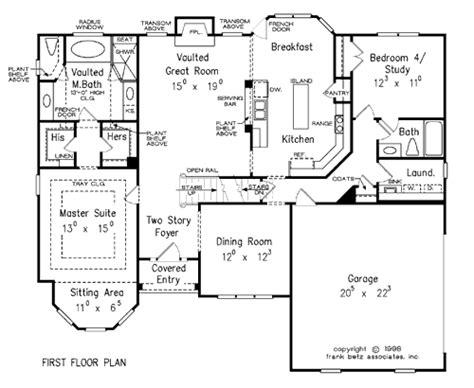 Frank Betz Plans by Sullivan House Floor Plan Frank Betz Associates