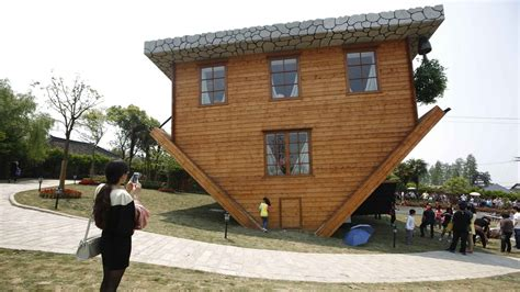 upside down house the upside down house attracting visitors in china cbbc