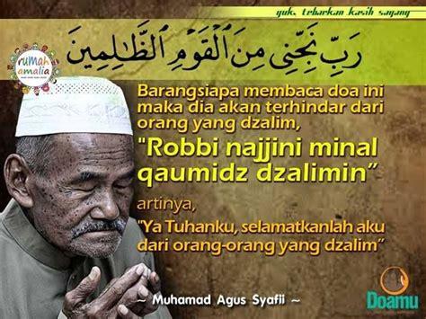 barangsiapa membaca doa ini maka dia akan terhindar dari orang yang dzalim quot robbi najjini minal