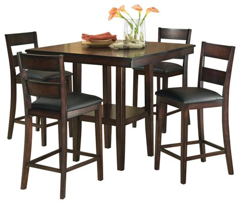 Pub Dining Room Sets Standard Furniture Pendelton 5 Counter Height Dining Room Set Traditional Indoor Pub