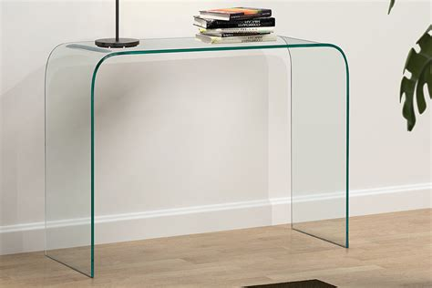 clear glass console table modern clear glass console table truce console table