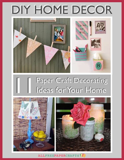 diy paper home decor diy home decor 11 paper craft decorating ideas for your